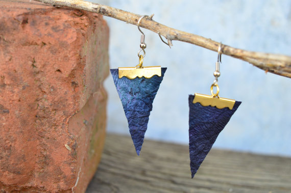 Blue Arrow Earrings