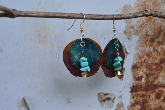Beaded Turquoise Earrings
