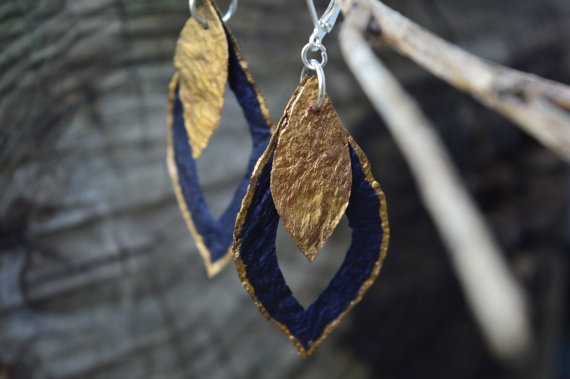 Gold-Edged Rain Earrings