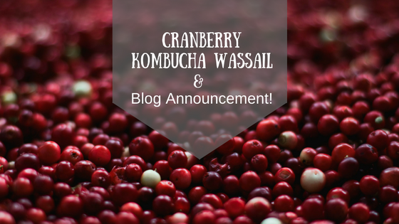 Cranberry Kombucha Wassail and Blog Announcement