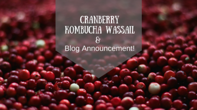 Cranberry Kombucha Wassail and Blog Announcement