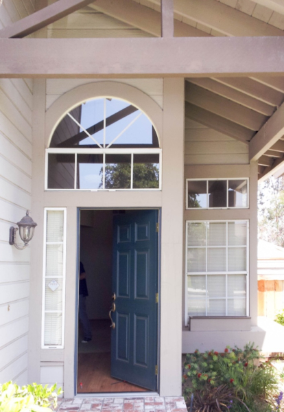 Windows and Entry Door Before