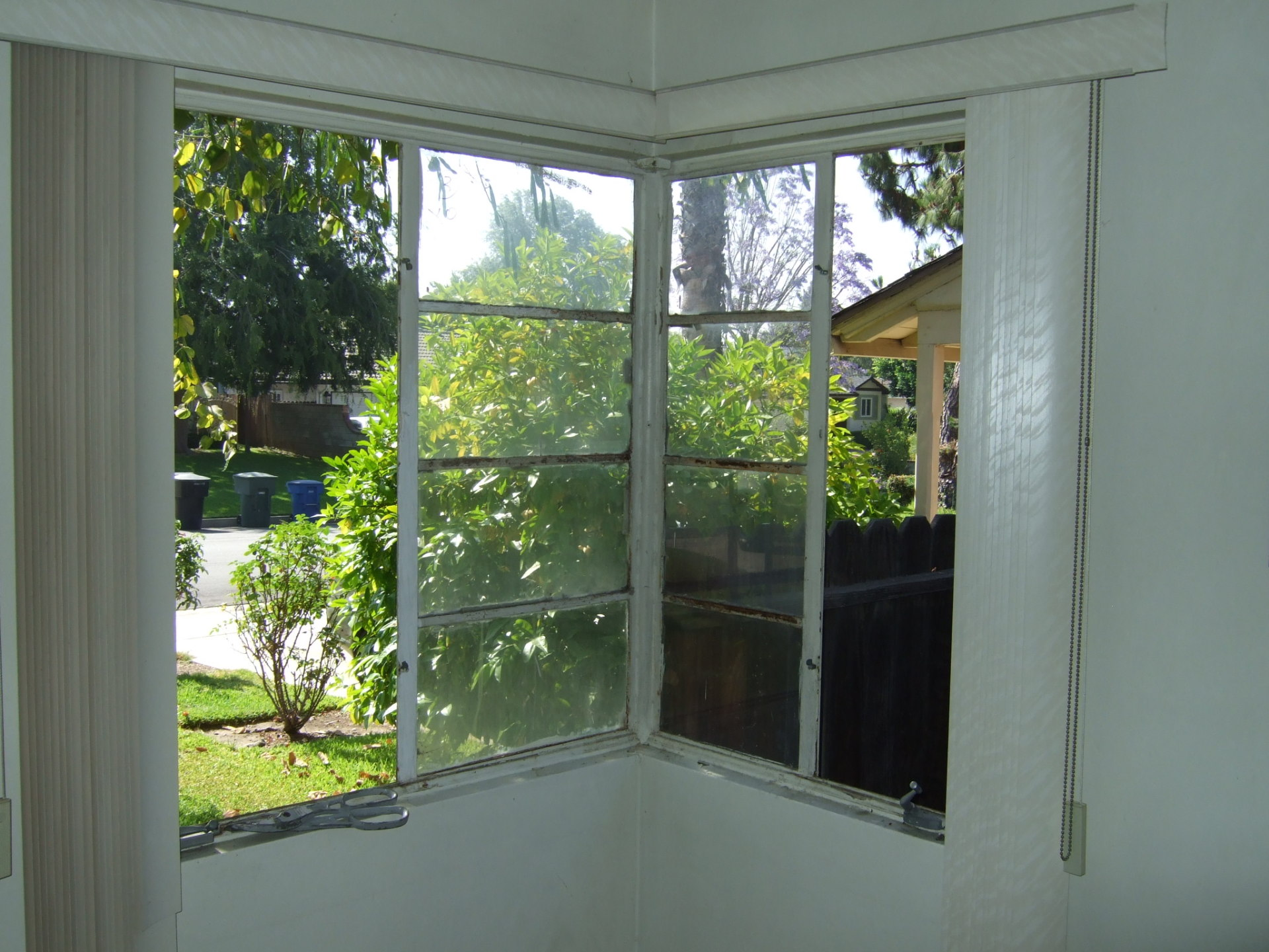 Corner Window Before (Inside View)