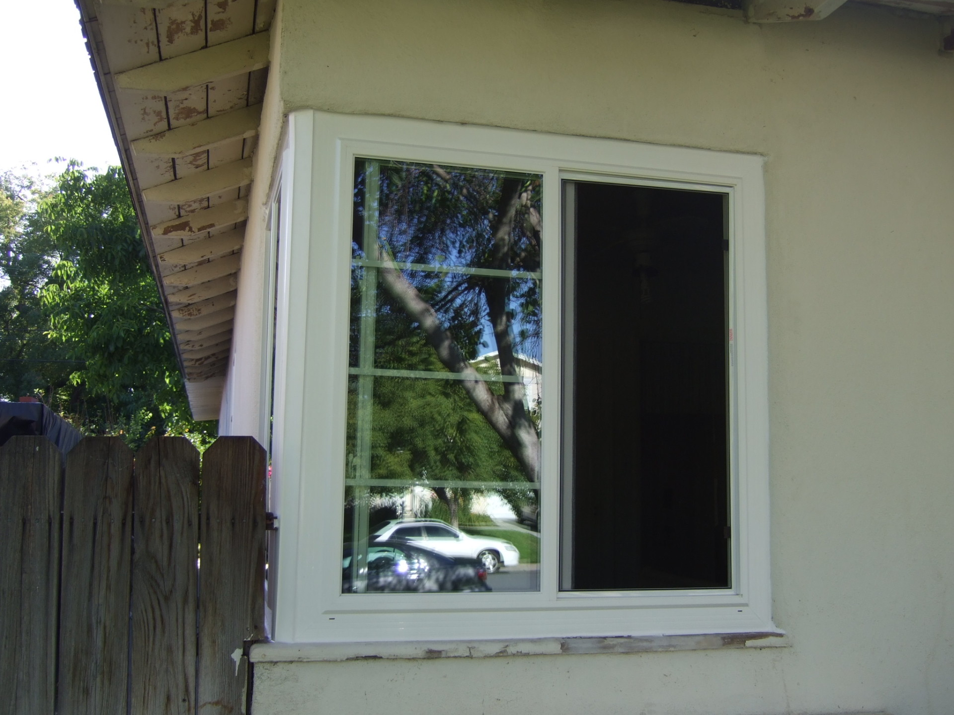 Corner Window After (Outside View)