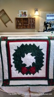 Christmas, longarm quilting service, longarm quilting, wreath, quilting, wall hanging