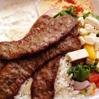 Gyro Meat Dinner Plate.