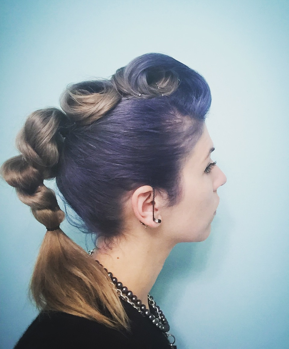 Pin up inspired updo by Emily
