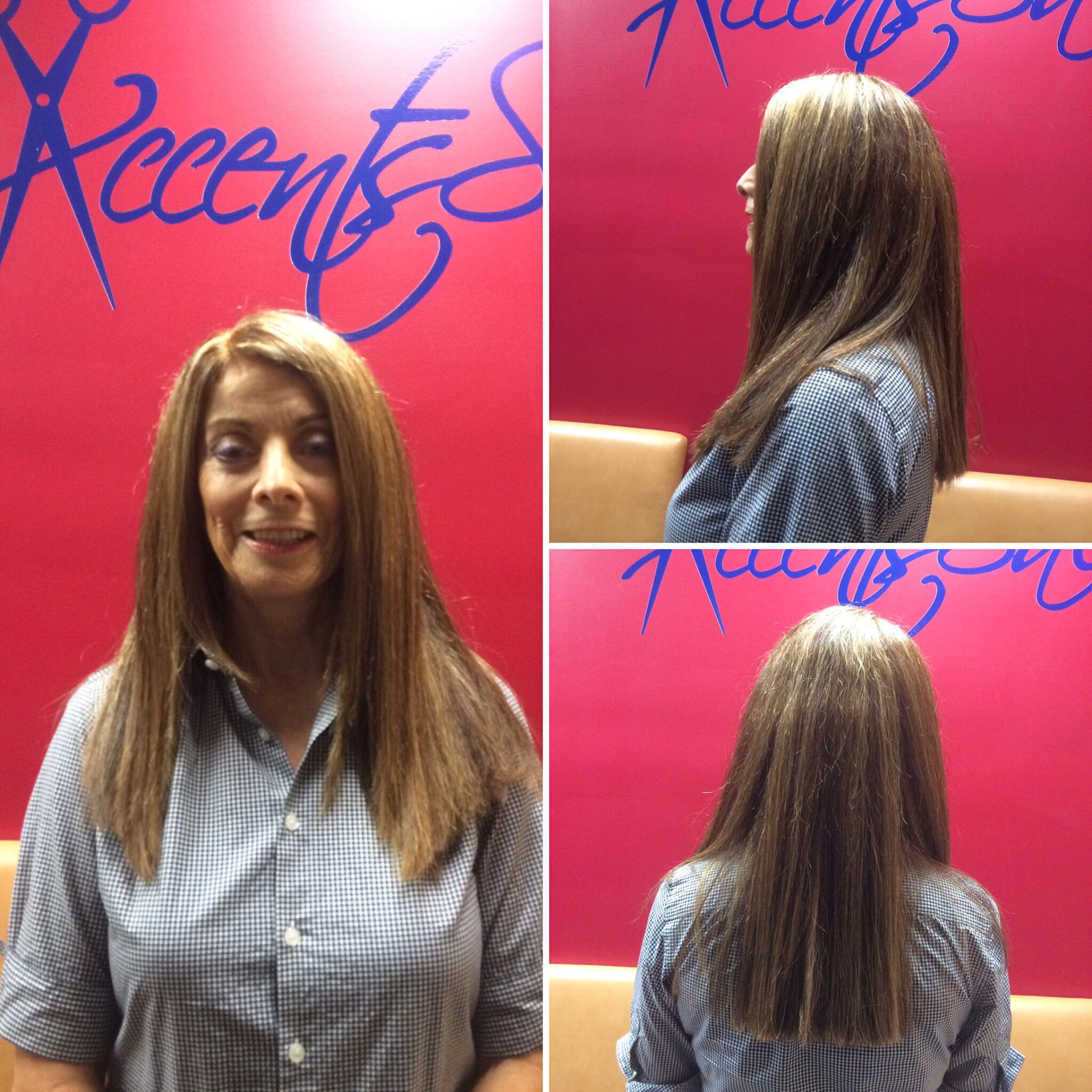 Cut color and Keratin Treatment by Janina