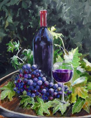 wine, reds, still life