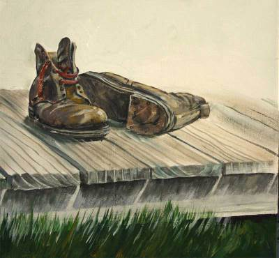 nostalgic, shoes, vintage, rustic,country