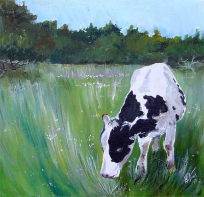 cow, farm, rustic, country, art