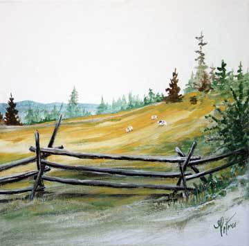 fence, ranch, cows, mountain, west, rustic