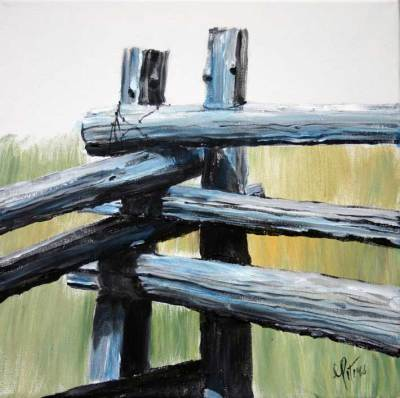 rustic, fence, west, art