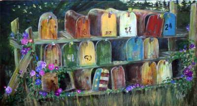 mailboxes, country, west, rustic, art