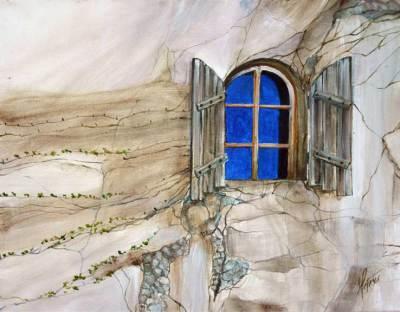 wine country, west, rustic, window, art