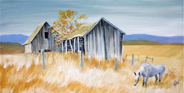 farm, old, rustic, western, art