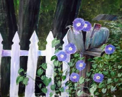 acrylic, home, flowers, vintage, rustic
