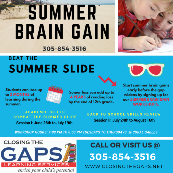 Summer Brain Gain K-10th grade
