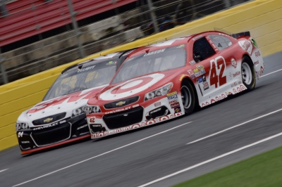 Kyle Larson and Chase Elliott - Charlotte Motor Speedway