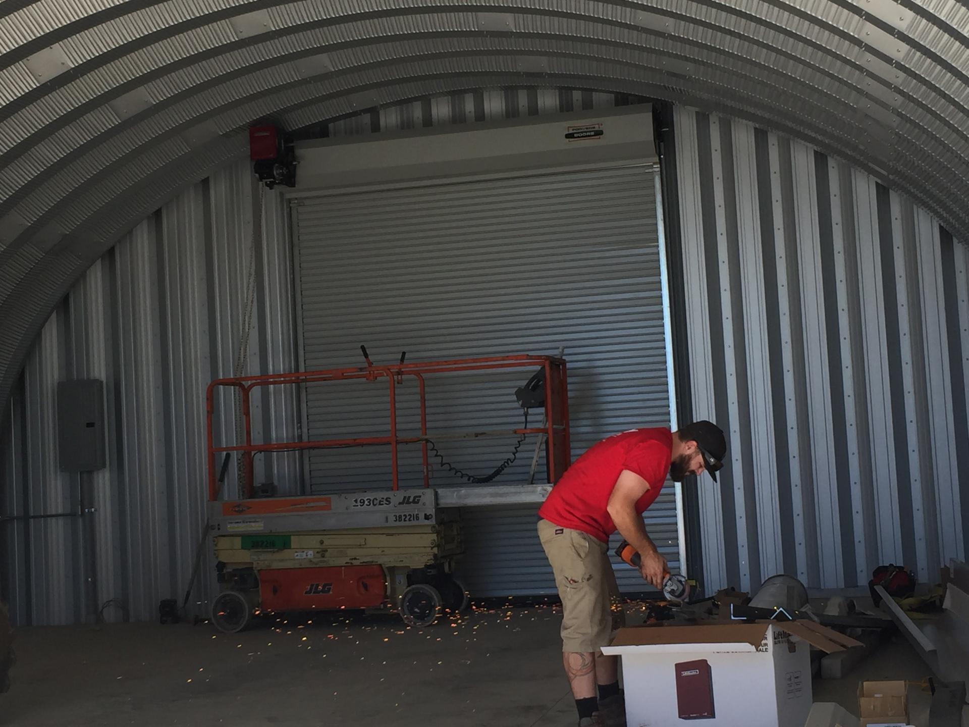 Porvene 424 Flat Slat Commercial Roll up with Liftmaster opener