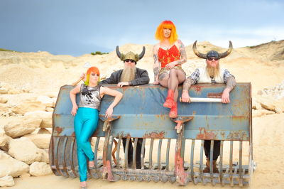 Vikings on Mars - Editorial shoot for Ed Scissorhands Hair and Beauty