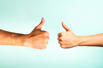 thumbs up, roof customers testimonials