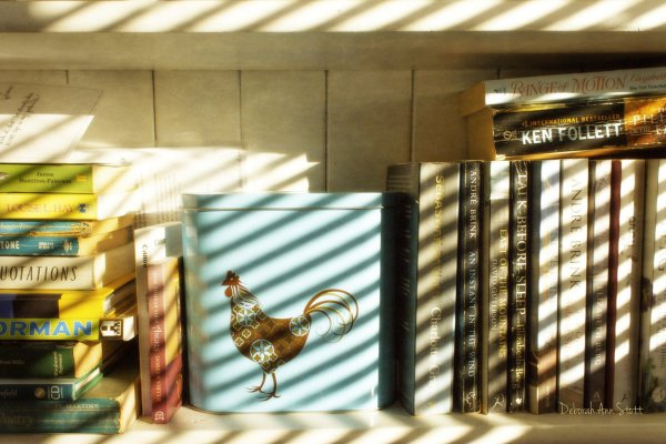 shadow, books, lines