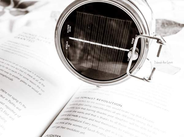 solar light, book, words, written words