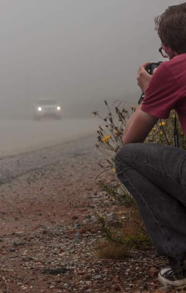 Day 88: Young photographer in the mist