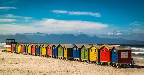 Muizenberg beach huts (c) Deborah Ann Stott 2016