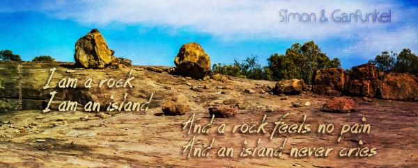 I Am A Rock (C) Deborah Ann Stott 2016