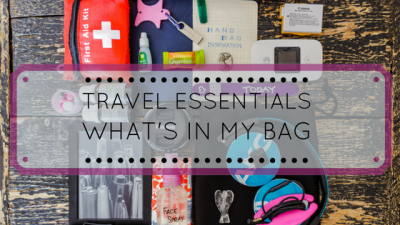 What's in my bag: 10 essentials when I travel