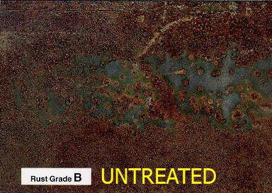Rusty untreated steel