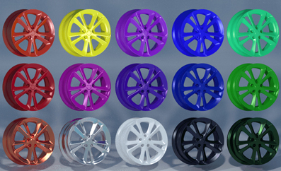 powder caoted wheels