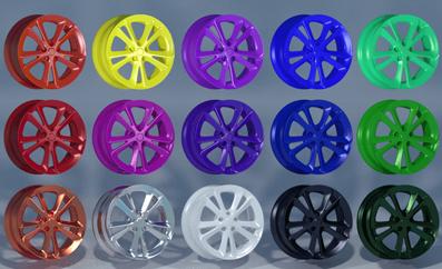 powder caoted wheels