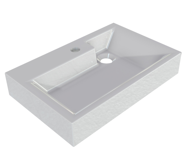 Compact Mineral Cast Basin Sit on