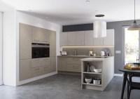 Oak Dark & Matt Cashmere Fitted Kitchen