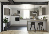White & Oak Grey Two Tone Fitted Kitchen
