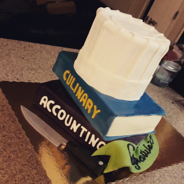 Culinary school graduation cake