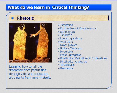 creative critical thinking course outline Critical thinking course outline foreword: in this course, you'll get hands-on experience with a battery of practical tools creative thinking exercise.
