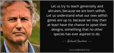 Selfish Altruism, Altruistic Selfishness