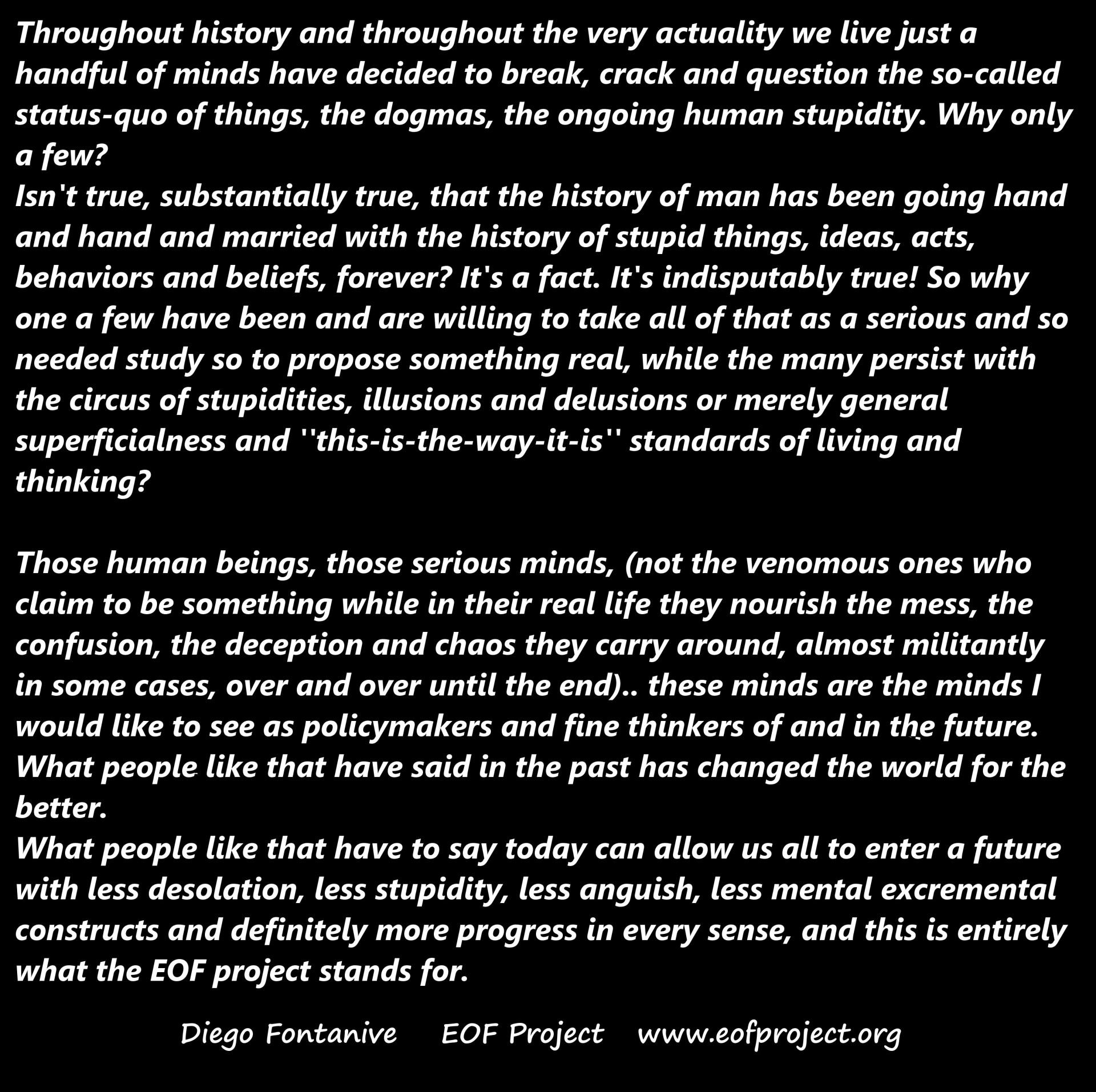 Human History, History of stupidity And Future