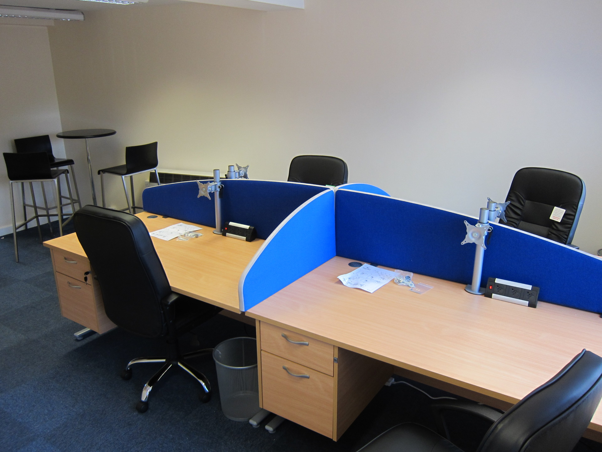 Workstations in shared office