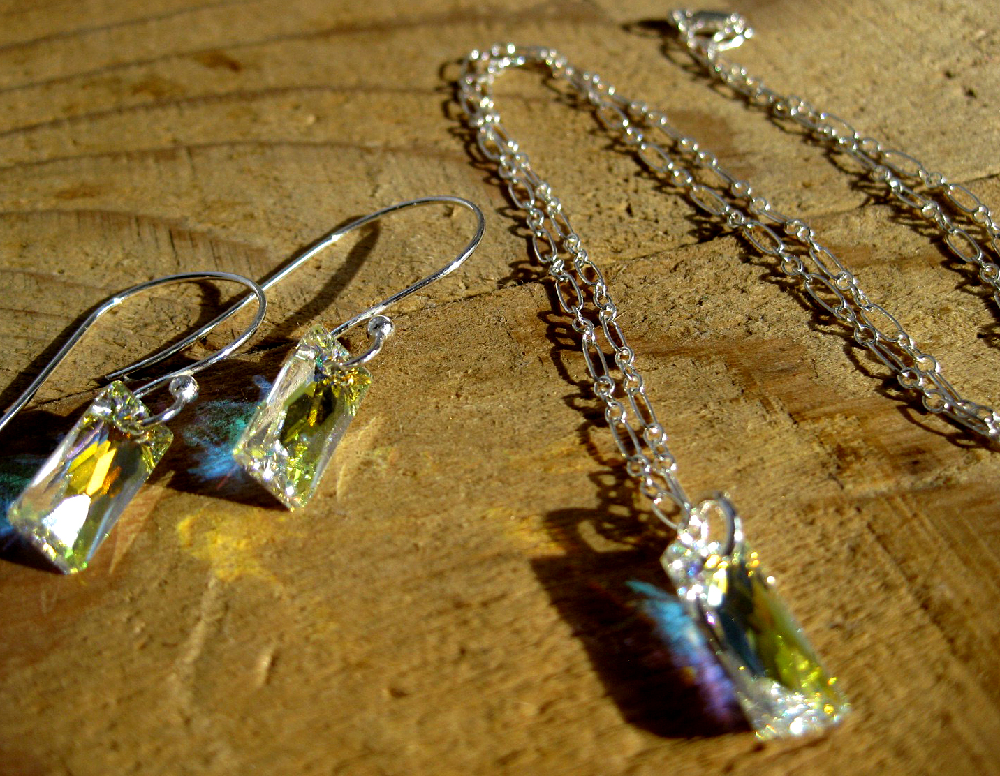 Sterling Silver & Austrian Crystal Set in Crystal AB