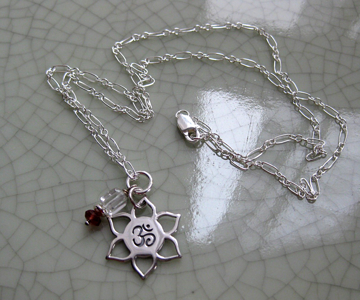 Sterling Silver Chain & OM Pendant