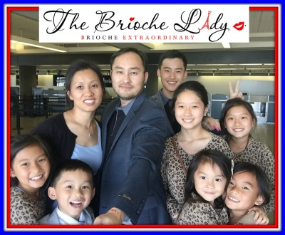 The Brioche Lady, Doc, and Kids at LAX International Airport
