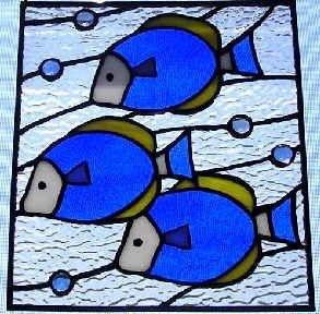 3-D Fish Trio