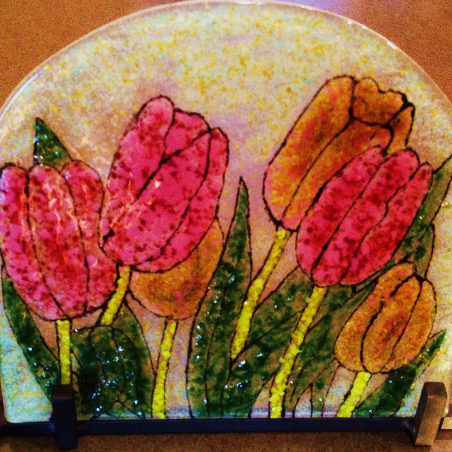 Fused Tulips