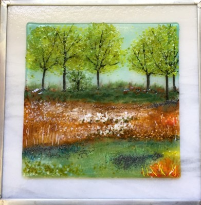 fused glass art scene