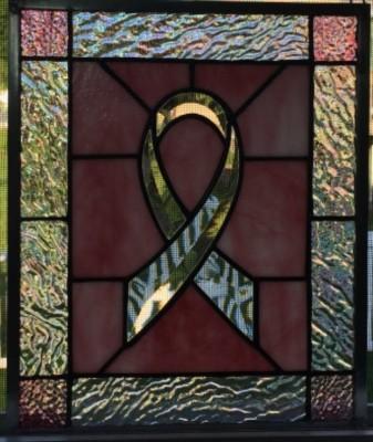 memory ribbon stained glass